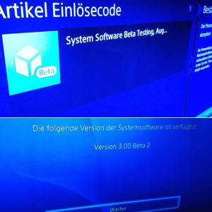 Das Testen der neuen Firmware 30 fr die Playstation4 kannhellip