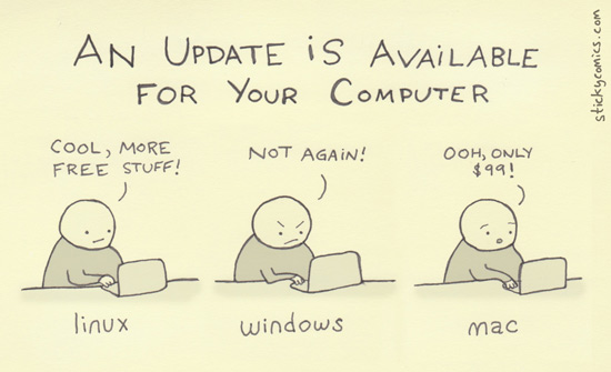 Computerupdate - Der Comic hat was