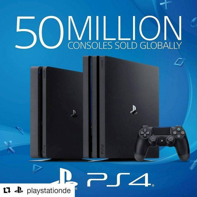 Gratulation an Sony fr diesen Meilenstein! 50 Millionen PlayStation 4hellip