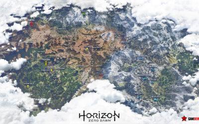Hier ist die vollständige Map von Horizon Zero Dawn